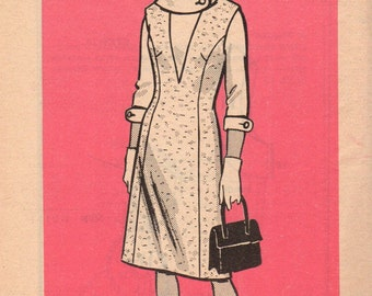 FACTORY FOLDED 1960's Jumper and Blouse Mail Order Pattern 9278 Size 12 1/2 Bust 33 Waist 27 Hip 37