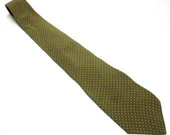 Vintage Necktie Black Green Tie