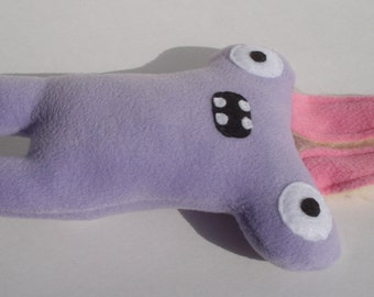 Easter Bunny Herman Hammerhead Squeaky Dog Toy - Lilac