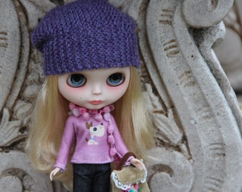 PATTERN - Urban chic slouchie hat for Blythe dolls INSTANT DOWNLOAD