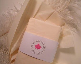 "Tissue Paper  Ivory Cream Vanilla BULK 24 Sheets of 20"" X 30"" DIY Wedding Decor - Gift Wrap Idea  Favor Box Packaging - DIY Pom Pom Supplies"