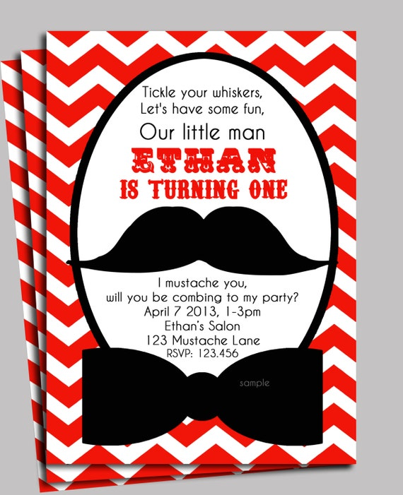 Mustache Birthday Party Invitations as good invitation design