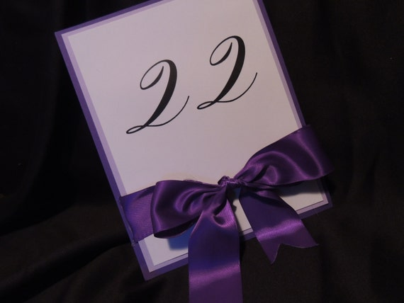 Wedding Table Numbers - Unique Bow Accent