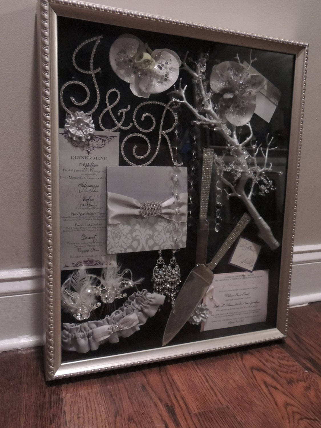 wedding shadow box. Black Bedroom Furniture Sets. Home Design Ideas