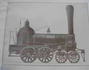 Sepia print -  Locomotives - 1911