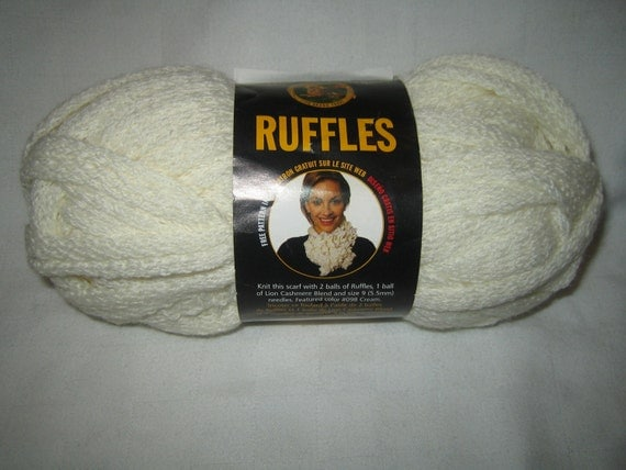 Knitting Yarn Brands : Ruffle Knitting Yarn Lion Brand Ruffles Cream frilly ruffle knitting ...