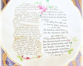 2 Inch Scalloped Oval Paper 24 Shapes Book Page Upcyled German Thesaurus Hand Punched Handmade Scrapbook Craft