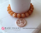 black friday cyber monday sale-OM CHARM BRACELET with red aventurine rondelles