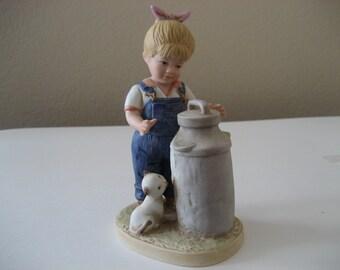 Vintage Homco Denim Days Girl Figurine 1501