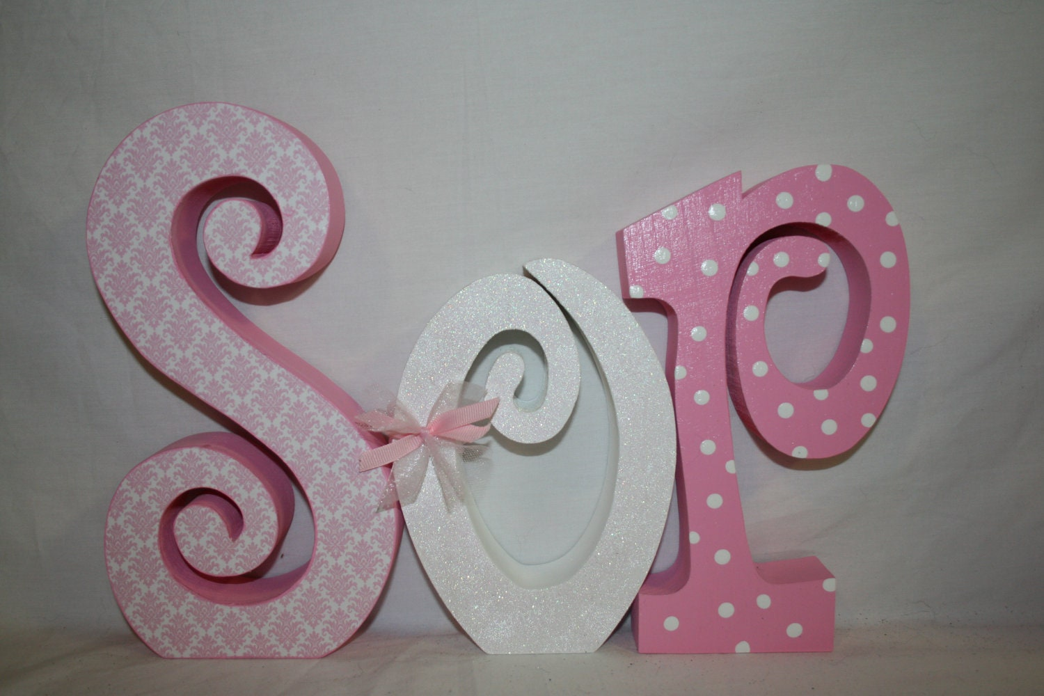 How To Decorate Wooden Letters For Nursery: Decorative Girl Nursery Letters Wood Letters By