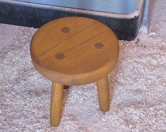 Rustic Wood Footstool, solid ash wood furniture,  made to order