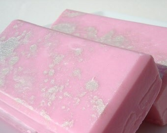 Juicy Couture Type Soap, Silver and Pink Soap, Homemade Soap, Pretty Soap, Bar Soap - 1/4 lb Soap - One Quarter Pound Soap