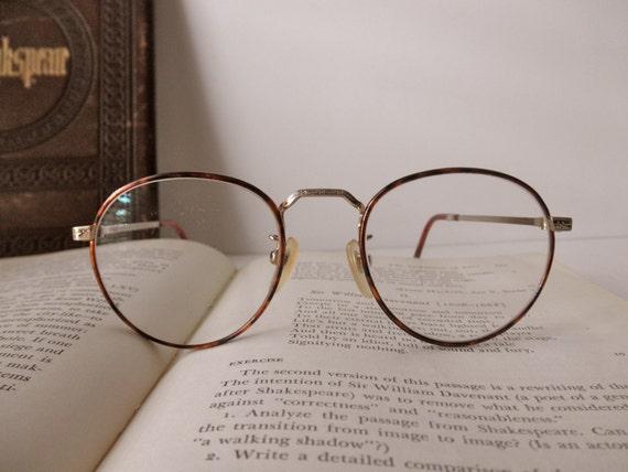 vintage polo tortoise shell wire rim eyeglass frames ralph lauren designer glasses