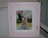 Pink, Baby, Nursery light pink 8 x 10 distressed frame