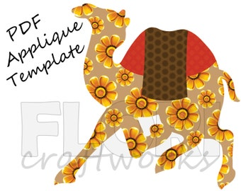 Camel Applique Template: PDF Camel Pattern from Mughal Art