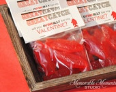 50% off INSTANT DOWNLOAD - Printable Candy Bag Labels - Happy Valentine's Day - Great Catch - Fish Valentine - Memorable Moments Studio