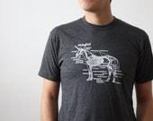Unicorn Shirt - Unicorn Skeleton Screen Printed Unisex T Shirt