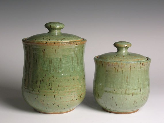 pottery kitchen canisters