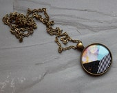 Orion Geometric Large Pendant Necklace - Wanderlust Collection - Galaxy, Universe