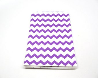 "Purple Paper Bags - Purple Favor Bags - Purple Packaging, 5"" x 7.5"", Set of 10"