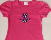 Custom girls zebra applique t-shirt with name...Toddler sizes