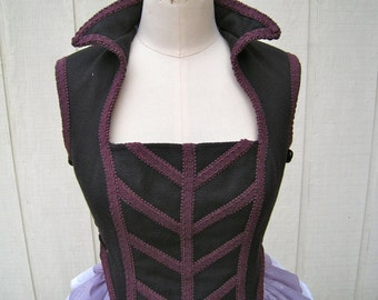 Cos Play, Renaissance, Steampunk, Victorian Bodice, side lacing, FREE SHIPPING