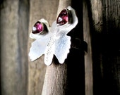Silver Butterfly Ring ./.  Pink Tourmaline OOAK Ring ./. Large Butterfly Ring ./. Tourmaline Ring ./. Bague Papillion ./. Handmade Ring