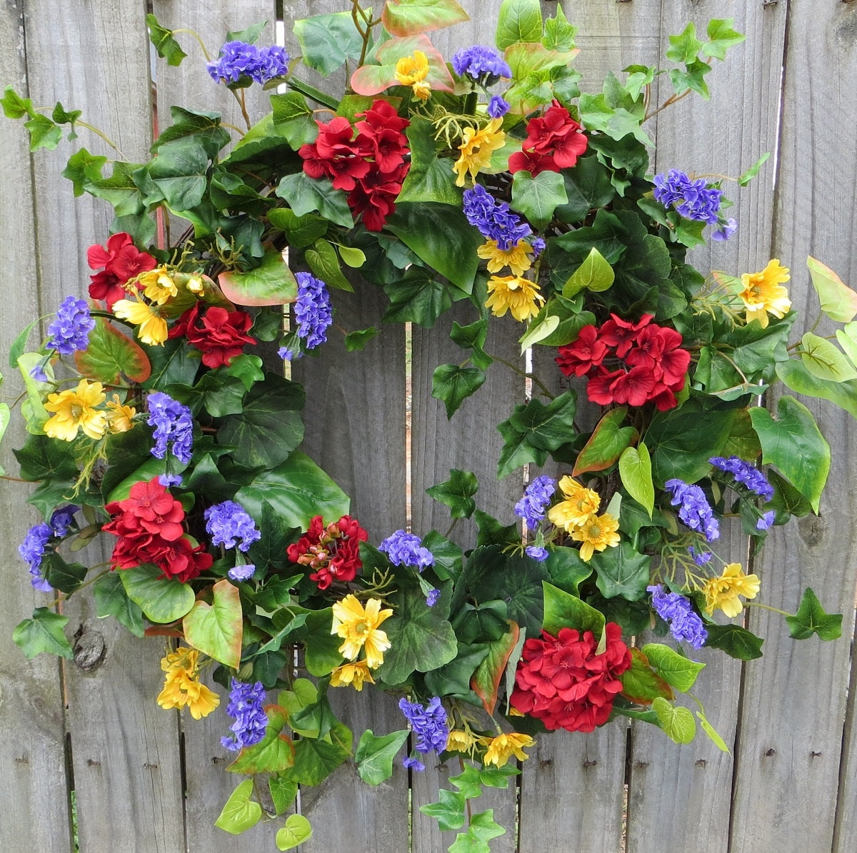 Spring Summer Door Wreath Spring Summer Door Wreath with
