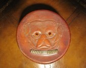 Vintage Leather Collar Box of Bulldog with Great Eyes