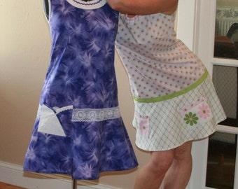 Easy PDF Sewing Pattern Womens Misses 1960's Mod Shift Dress Pattern Retro Style
