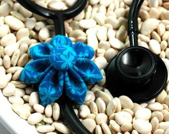 Stethoscope ID Tag Flower-Pool Blossom