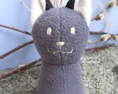 Silver Fox, Upcycle Eco friendly Plush Stuffed Animal Toy
