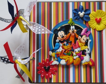 Sale - Disney Autograph and Picture Album - 6 X 6 Chipboard