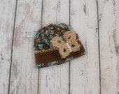Crochet baby girl hat - Baby beanie - Baby hat - Newborn photoprop