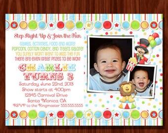 Circus Invitation / Carnival invitation
