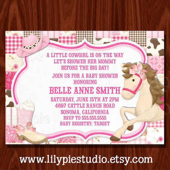 Items Similar To New Cowgirl Themed Baby Shower Birthday