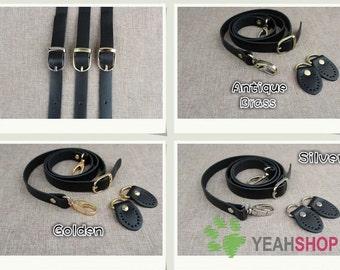 Adjustable Leather Shoulder Handle - BLACK - 120cm / 47 inch - HD49