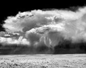 Thunderstorm over the plains of Wyoming, Black and White print