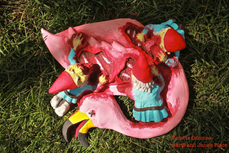Gnome In Garden: Zombie Gnomes: Bye Bye Birdie By ChrisandJanesPlace On Etsy