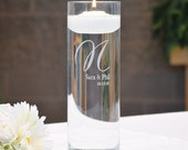 Personalized Cylinder Memorial Floating Candle