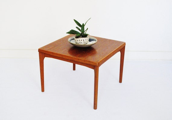 Mid-Century Teak End Table Large Square End By Thewhitepepper