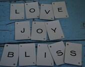 Vintage Alphabet Cards:12 Cards LOVE JOY BLISS