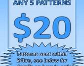 SUPER SAVING - Loom beading patterns 5 for 20 Dollars
