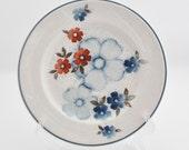 Vintage Salad Plate - Noritake - Glimmer - B301W10 - Blue Floral - Flowers