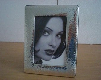 Handmade Sterling Silver Photo Picture Frame Martellata 10x15 GB new