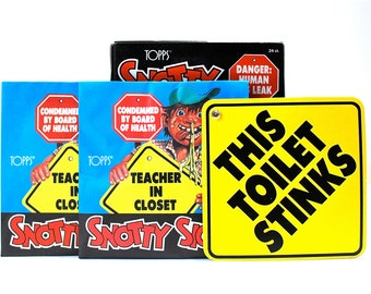 2 Snotty Signs by Topps 1986  GPK