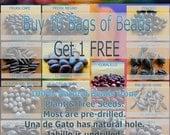 Buy 9 Bags, Get 1 Free - Natural Beads
