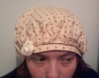shabby chic frumpy hat with fabric rose