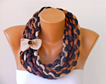 Sale 9,90  -crochet lariat,scarf, infinity chain scarf,  lariat  scarf,
