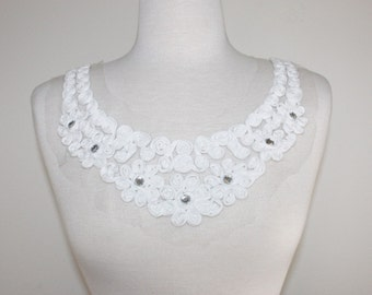 Cotton Rose Neck Applique